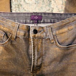 NYDJ GREY/Gold overlay jeans